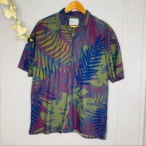 Zara Men's Tropical Button Down Shirt M